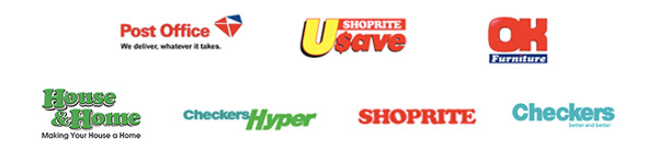 Pay with SCode at participating Retail Outlet: Post Office, Shoprite, Checkers, USave, House-&-Home, Checkers Hyper