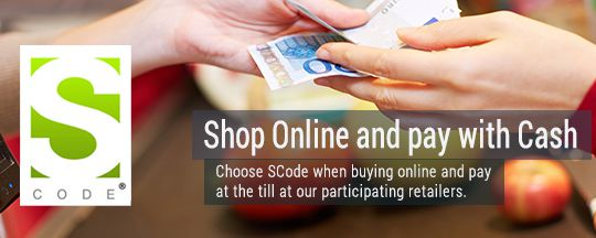 Paygate SCode - Shop Online and Pay with Cash